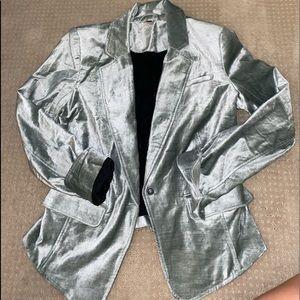 Free People silver-blue suede jacket